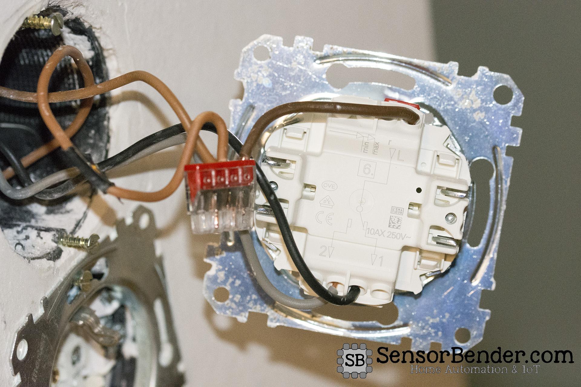 Wechselschaltung ohne COM-Link mit Fibaro Switch: Eingangswechselschalter von hinten
