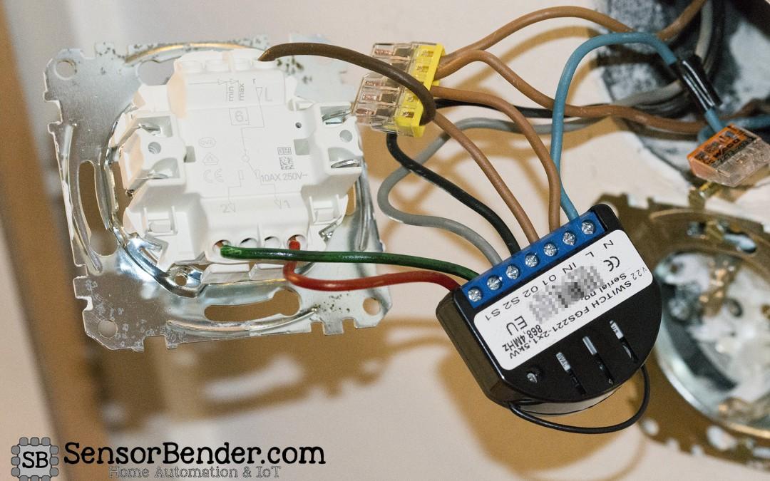 Wechselschaltung ohne COM-Link mit Fibaro Switch