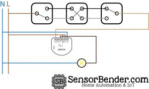 Wechselschaltung ohne COM-Link mit Fibaro Switch: Realisierung mit Fibaro FGS-211 / FGS-212